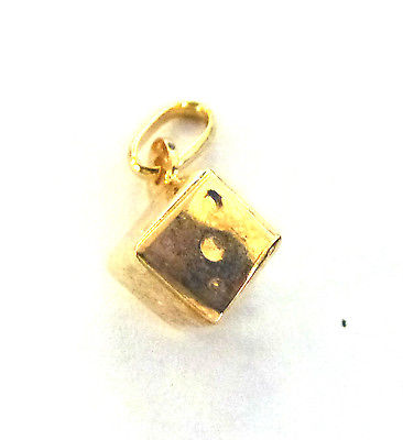 9ct Yellow Gold Dice Charm                                                A33756