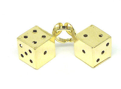 9ct Yellow Gold Double Lucky Dice Charm                                     2473