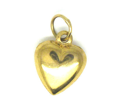 9ct Yellow Gold Heart Charm                                                 0013