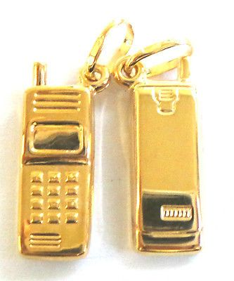 9ct Yellow Gold Mobile Gold Telephone Charm / Pendant