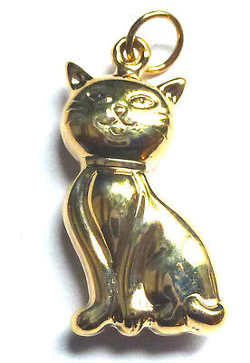 9ct Yellow Gold Pussy Cat Pendant                                          95861