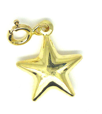 9ct Yellow Gold Star Charm With Bolt Ring Option                     8953 / 2023