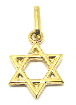 9ct Yellow Gold Star of David Charm/Pendant              3599