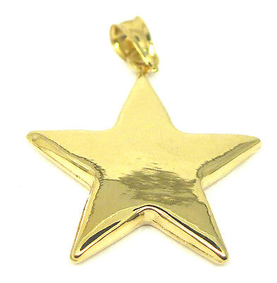 9ct Yellow Gold Star Pendant                                         3553