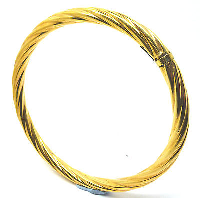 9ct Yellow Gold Twisted Design Slave Bangle