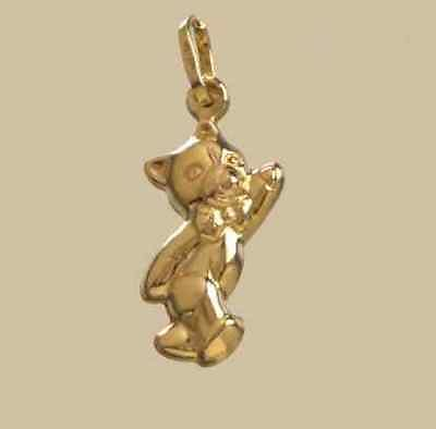 9ct Yellow Gold Waving Teddy  Charm                                       A34275