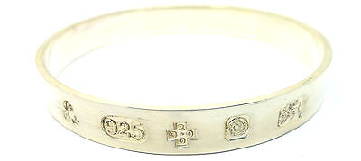 Solid Sterling Silver 925 Gents Millenium Hallmarked Slave Bangle