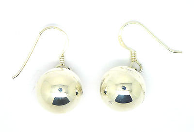 Sterling Silver 12mm Ball Drop Earrings on Hook Wire                        5748