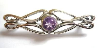 Sterling Silver and Amethyst Brooch                                       B17811
