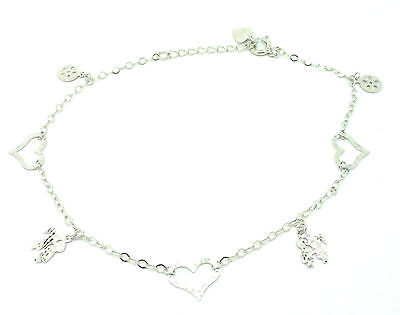 Sterling Silver  Ankle Chain /Anklet with Assorted Motifs