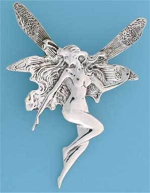 Sterling Silver  Art  Nouvo Fairy Fairy Brooch                            B92794