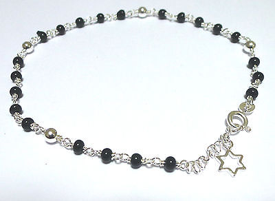 Sterling Silver Bead Link Ankle / Anklet Chain in Asstorted Colours         4325