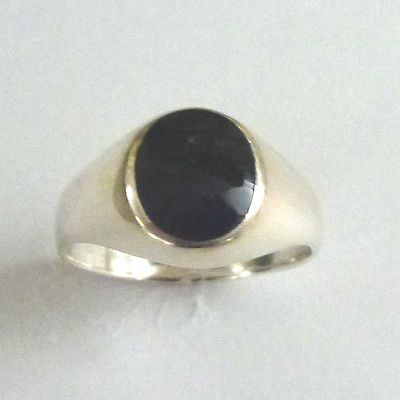Sterling Silver Boys / Gents Onyx Signet  Ring                            B87300