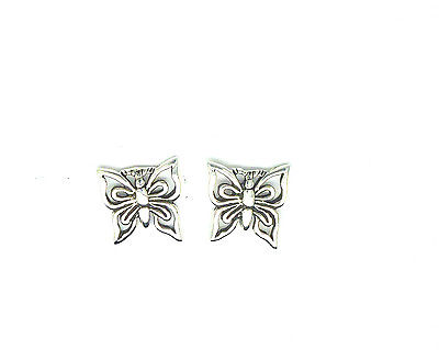 Sterling Silver Cutout Butterfly Stud Earrings