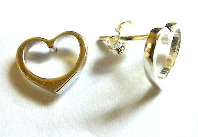 Sterling Silver Cutout Hearts Stud Earings                                B64689