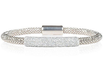 Sterling Silver Glitter Cuff  Bangle in various combinations                 584
