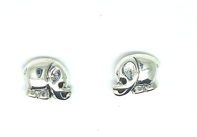 Sterling Silver Small Elephant Stud Earrings