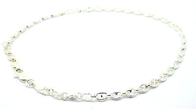 Sterling Silver Solid Marine Chain Link Anklet Ankle Chain              A40798